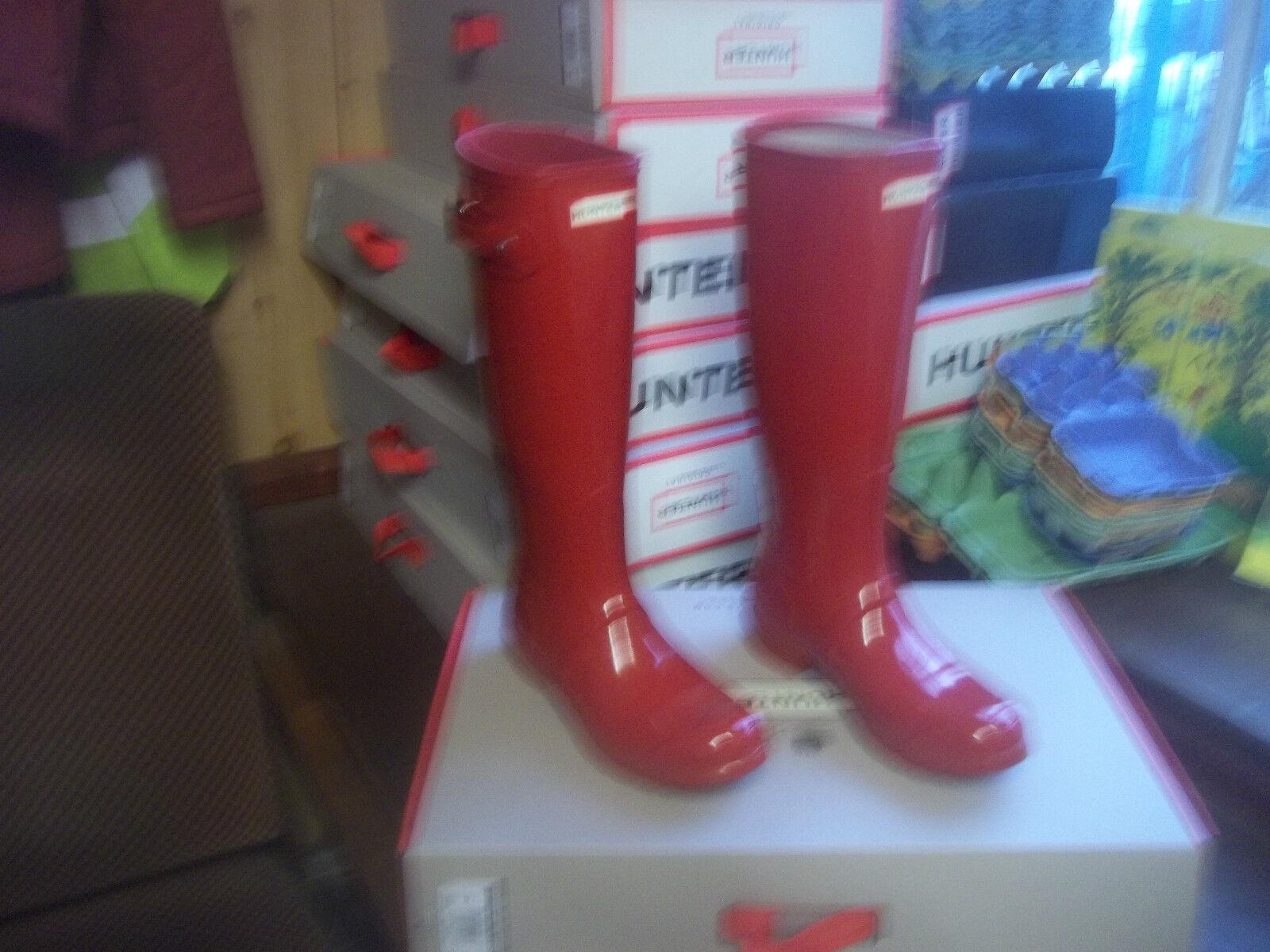 Los zapatos más populares para hombres Cazador y mujeres Cazador hombres De Brillo Wellingtons en Halifax Rojo Militar De Alto Original Damas 645d34