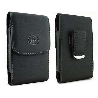 Vertical Leather Swivel Belt Clip Case Pouch Cover for Portable EKG ECG Monitor