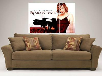 """RESIDENT EVIL MOSAIC 35BY25"""" WALL POSTER MILLA JOVOVICH"""