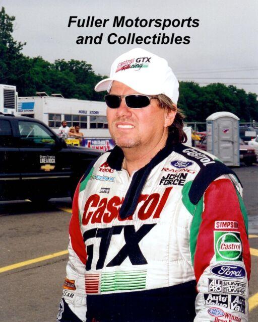 JOHN FORCE 2000 CASTROL GTX NHRA FUNNY CAR 8X10 PHOTO 16 TIME CHAMPION DRIVER
