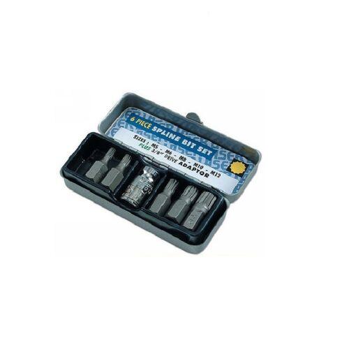 Laser Tools Spline Bit Set 6pc 3//8drive  0592