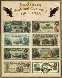 "West Virginia U S Large National Bank Notes 16/""x20/"" Poster Part of a State set"