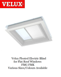 Velux-Pleated-Electric-Blind-for-Flat-Roof-Windows-FMG-FMK-Various-Sizes-Colours