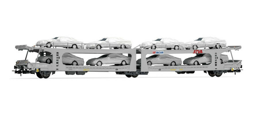 Electrotren E6535 RENFE Autrotransportwagen mit Automodellen Ep V/VI