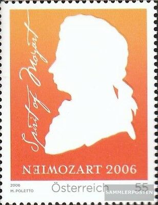Never Hinged 2006 Mozart Carefully Selected Materials Smart Austria 2572 Unmounted Mint complete Issue