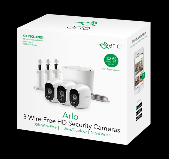 NEW In Sealed Box - Arlo VMS3330W Security System with 3 HD Cameras - White