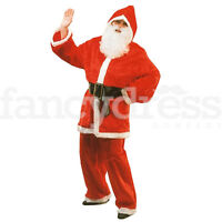 Adult Santa Suit Father Christmas Nativity Fancy Dress Costume >50 Chest