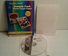 Ritz Pix E-Z Print & Share 2.0 Photo Software w/3 Sheets Sample Photo Ink Paper