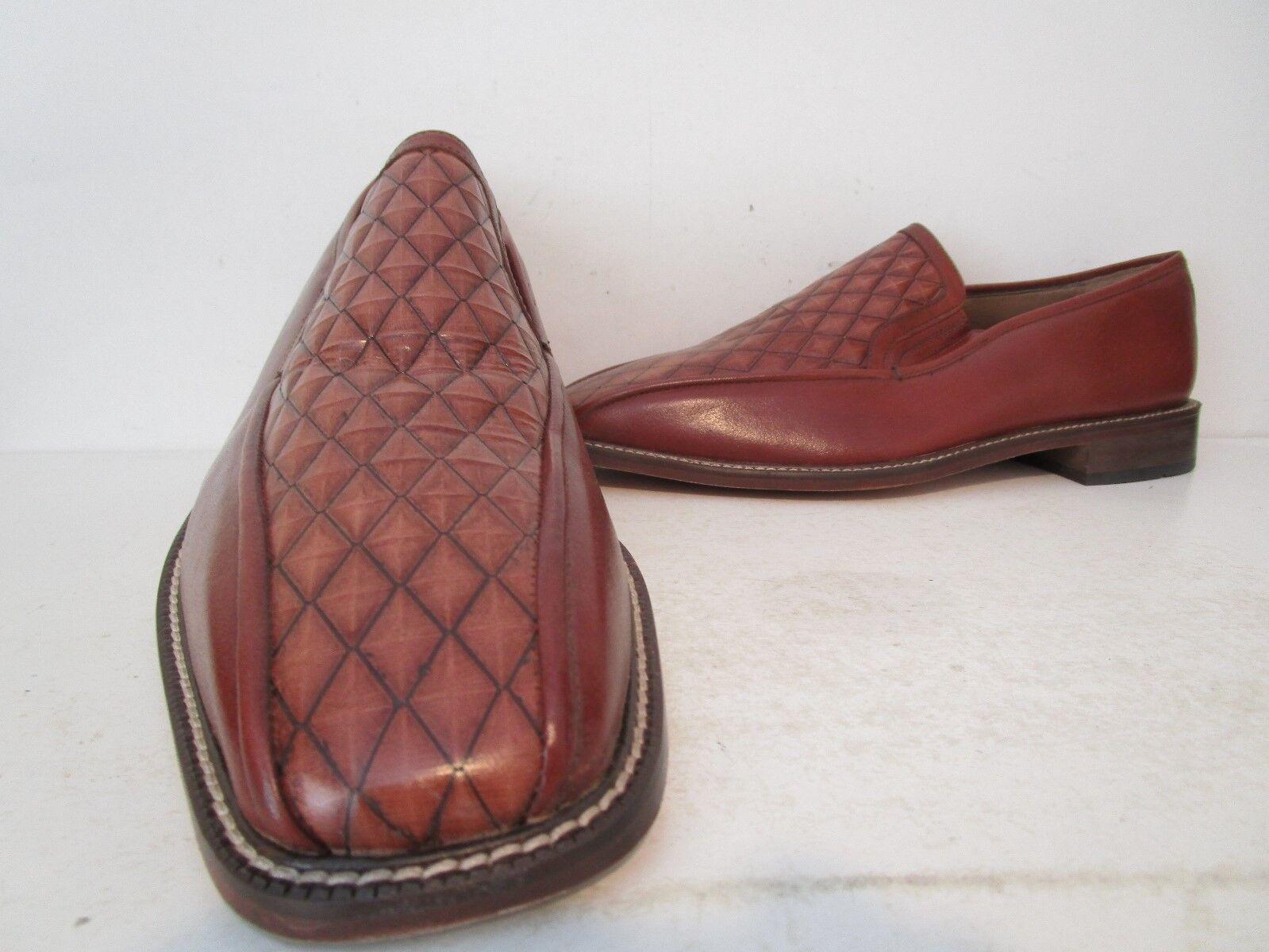 Stacy Adams Mens Garda Leather Casual Slip On Loafers Dress Shoe Cognac 13 12 M