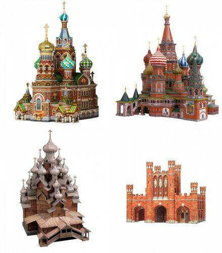 UMBUM Sights of Russia Clever Paper Innovative 3D Cardboard Puzzles