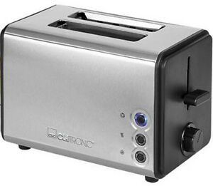 Clatronic-Toaster-Stainless-Steel-Housing-Stainless-Steel-Black-Inox-with-Bun-Patch