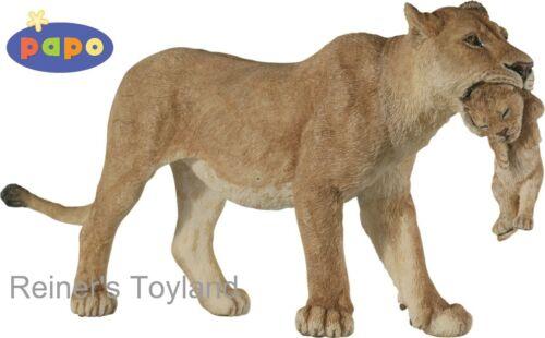 Personaje//personaje dentro del juego Papo 50043 animales salvajes fiera con joven animal-nuevo
