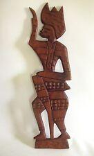 Edel Holzschnitzerei aus Afrika Afrikanerin Teak Holz hand-geschnitzt 57 cm