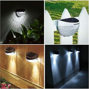 Details About Solar Ed Fence Lights Wall Door Step Smd Led Light Outdoor Garden Lighting