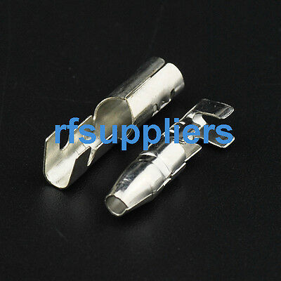 100sets 4.0mm Female + Male Motorcycle Japanese Bullet Connectors Crimp Terminal