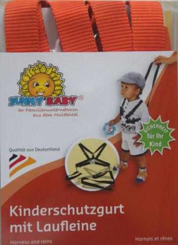 Sunnybaby Kinderschutzgurt Kinderwagengurt Sicherheit Nylon Orange Lauflerngurt