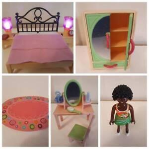 Dettagli su PLAYMOBIL ACCESSORI PER 5309 camera da letto con tavolino da  trucco per dollhouse 5303- mostra il titolo originale