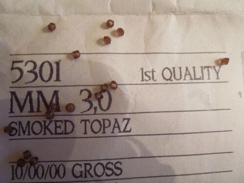Swarovski Nos style 5301 Smoked Topaz 3mm 432 bead count Vintage