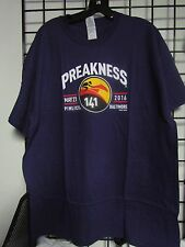 2016 PREAKNESS 141 - MAY 21 - PIMLICO - BALTIMORE PURPLE LOGO SHIRT X-LARGE