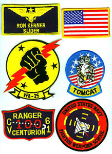 TOP-GUN-RON-KERNER-SLIDER-FLIGHT-SUIT-PILOT-6-PATCH-SET