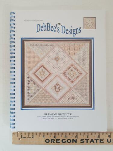 "NEW DebBee/'s Designs 11/"" Diamond Delight VI Counted Canvas Needlepoint Pattern"