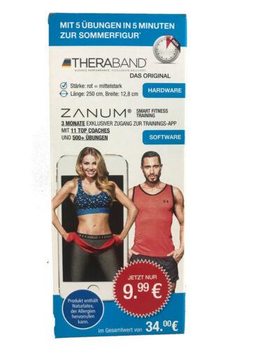 Theraband 250x12,8cm inkl ZANUM Fitness App Zugang 3 Monate Gratis