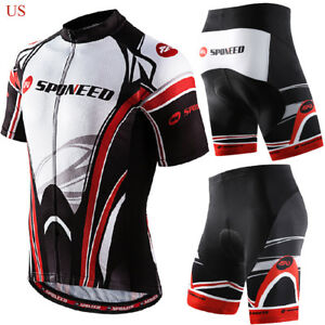afa37df33 Image is loading Cycling-Clothing-Set-Men-Bike-Shirts-Pockets-Bicycle-
