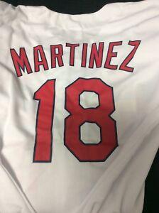best cheap e0d95 5a68d Details about St Louis Cardinals Carlos Martinez kids home white jersey  Youth XL SGA 4/29/17