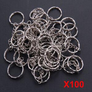 100pcs-Keyring-Blanks-Key-Chains-Silver-Tone-Findings-Split-Rings-4-Link