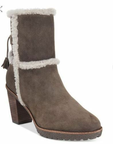 Frye Womens Jen Shearling Boots Water Resistant Suede Smoke 5.5 NEW IN BOX