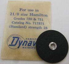 Nos Hamilton 21/0 s model 750 751 Mainspring 1 piece * 717571 *