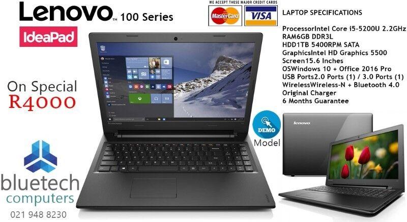 Demo Lenovo Ideapad 100 Intel i5-5200U 2.2GHz 8GB RAM 1TB Hard