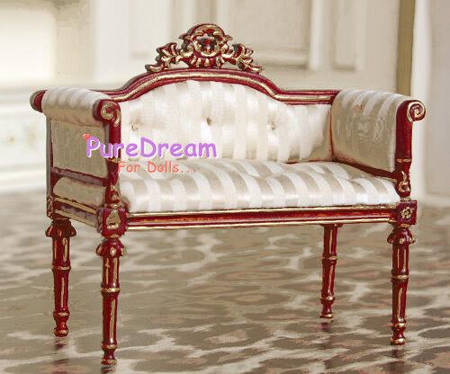 Dollhouse Furniture Armchair Sofa Made of Cloth/& Wood JB0041