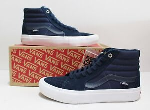1d09bf27fdc03a Image is loading Vans-SK8-Hi-Pro-Navy-Navy-White-Men-