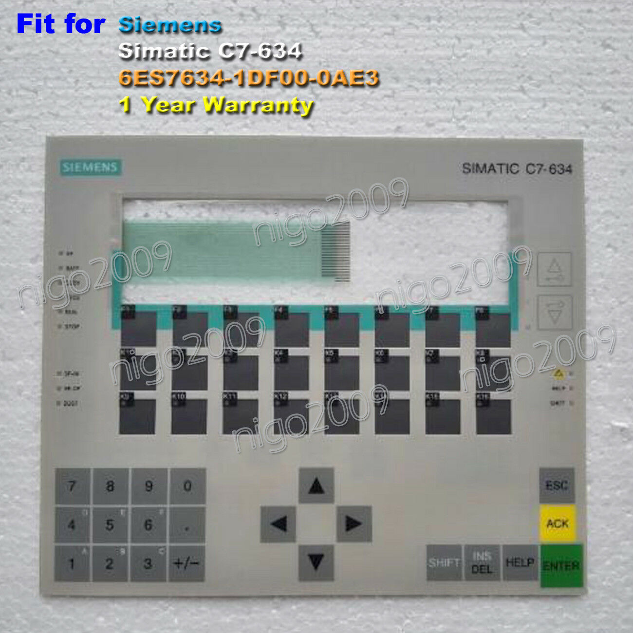 For SIEMENS SIMATIC C7-634 6ES7634-1DF00-0AE3 Membrane Keypad 1 Year Warranty