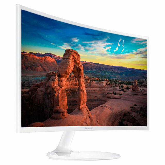 "NEW Samsung Curved 32"" Full HD 1920x1080 Super Slim Gaming LED Monitor White"
