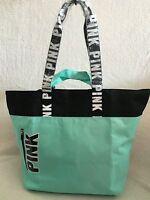 Victoria Secret Pink Gym Tote ,book Bag / Travel Tote / Gym Bag, Nip Sea Foam Gr