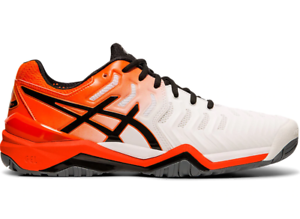 Dettagli su Scarpe Tennis Asics GEL RESOLUTION 7 AC 20192020 E701Y 100 All Court WhiteKoi