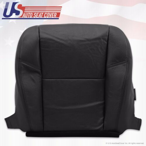 2013 Chevy Avalanche LTZ PASSENGER Bottom Seat Cover PERFORATED LEATHER BLACK