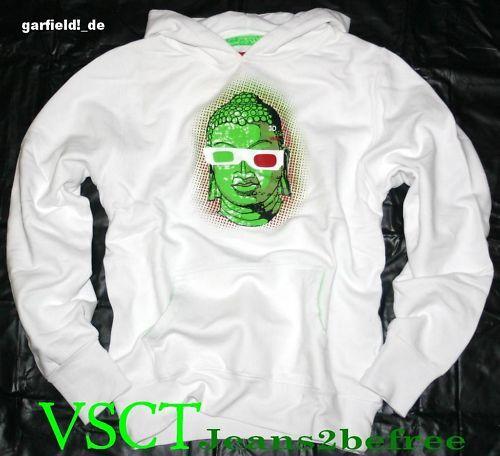 VSCT Clubwear Gr.L Sweatshirt mit Kapuze 3D thinktank Hoodie Hoody weiß NEU