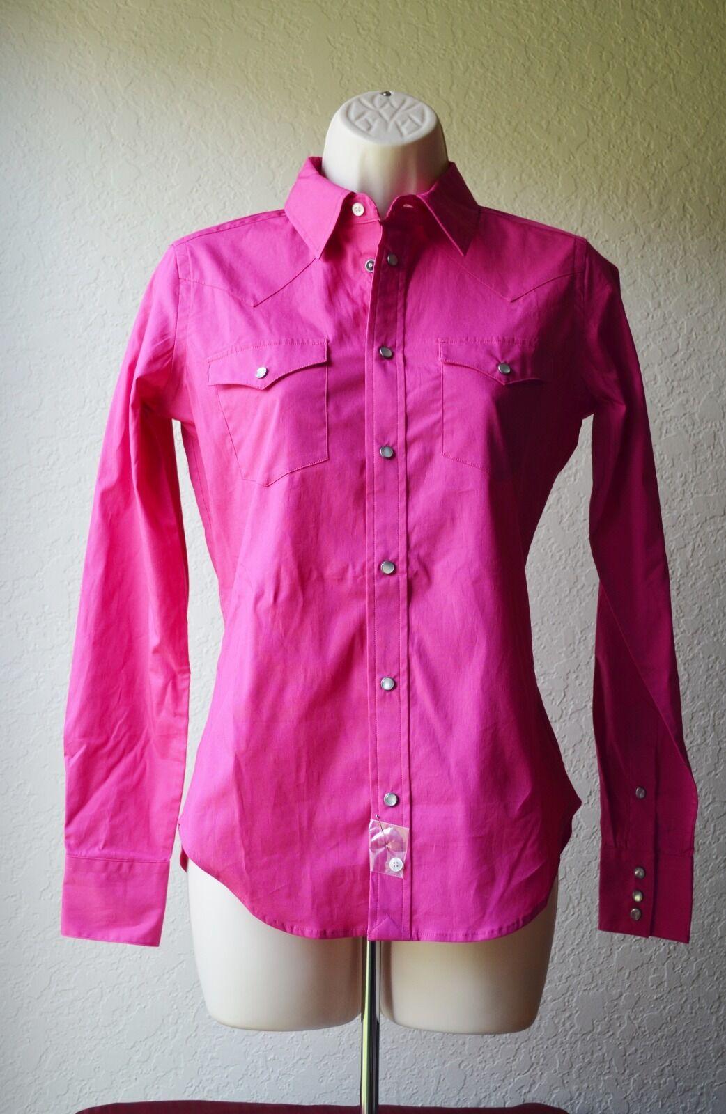 Ralph Lauren 100% Authentic Pink Button Down Shirt Women Size 2 MSRP  165