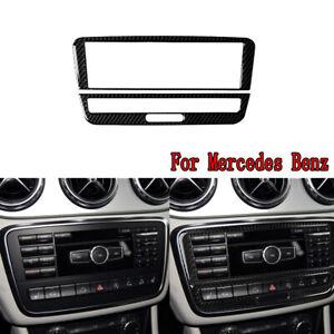 Carbon-Fiber-Central-CD-Panel-Decorative-Trim-For-Mercedes-Benz-A-B-GLA-2013-18