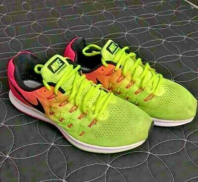detailed look 479f7 47b86 Nike Mens Size 9.5 Air Zoom Pegasus 33 OC Running Trainers Shoes 846327-999