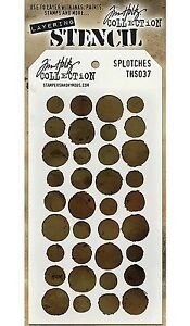 NEW-Splotches-Design-Layering-Stencil-Stampers-Anonymous-Tim-Holtz-Collection
