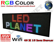 40x15 Rgb Display Semi Outdoor Indoor Wifi Led Scrolling Sign Super Fast Ship