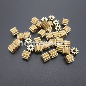 50PCS 102A Brass Gear 0.5 Modulus T=10 Aperture 2mm Model Accessories 10T Metal