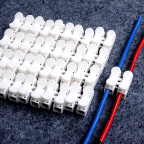 30x Hot Electrical Cable Connector Quick Splice Lock Wire Terminals Self Locking