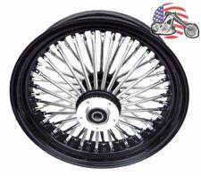 "Black 16"" X 3.5"" 48 Fat King Spoke Rear Wheel Rim Harley Touring Softail Bagger"