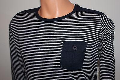 """Clever Mens Jumper Lee Jeans """"devon"""" Sweater Knit Sailor Stripe Crewneck New - Blue Angenehm Zu Schmecken"""