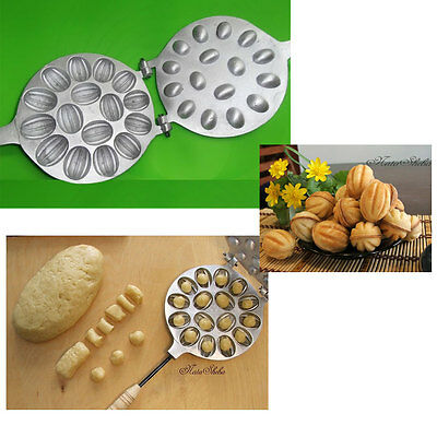 RUSSIAN SWEET ORESHKI NUTS 16 USSR MOLD COOKIE IRON FOR OVEN + ENGLISH RECIPE